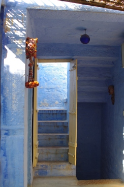 Stone steps inside the haveli