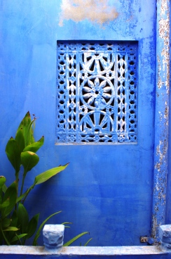 Blue Wall inside the Haveli