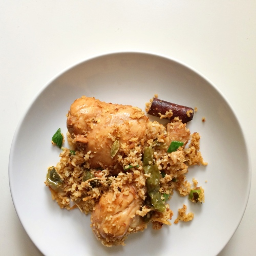 Coconut Chicken Fry (South Indian Dish)